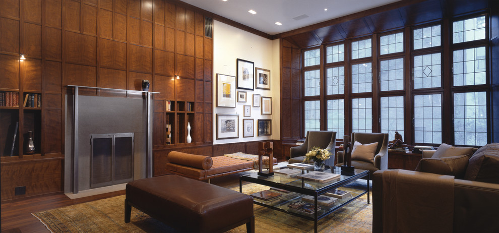 Leather Daybed Living Room Traditional with Brown Leather Daybed Brown Leather Ottoman Fireplace