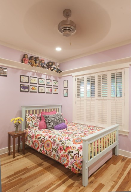 Ledge Shelf Kids Contemporary with Bedroom Bedside Table Floral Bedding Gallery Wall Girls Room