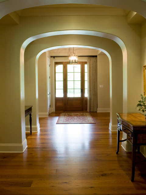Leeds Certification Entry Traditional with Arched Entry Foyer Glass Door Hardwood Leed Nashville Pendant