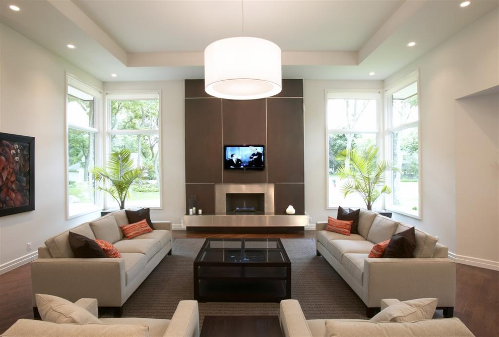Lennox Fireplace Living Room Contemporary with Area Rug Artwork Brown Coffee Table Corner