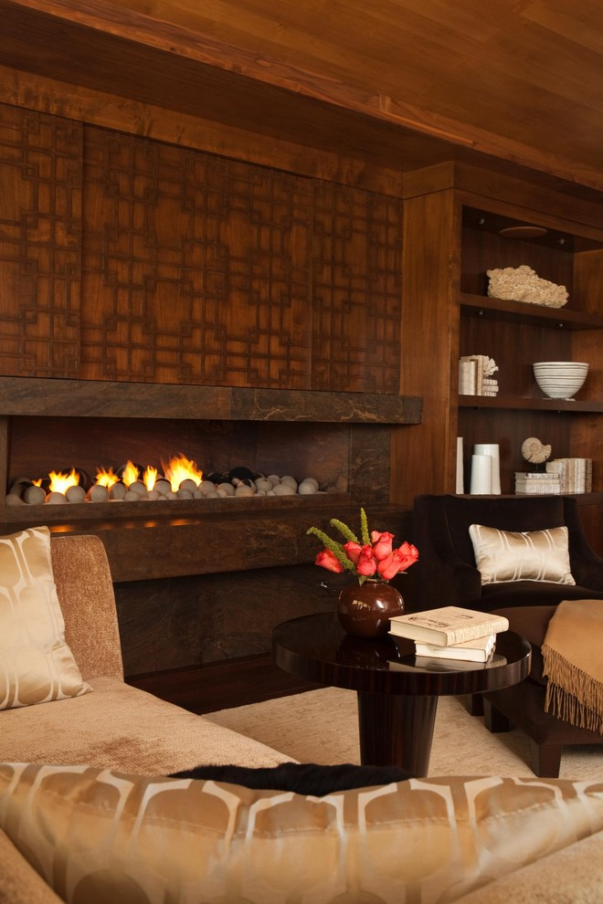 Lennox Gas Fireplace Bedroom Contemporary with Accent Ceiling Area Rug Bookcase Bookshelves Built