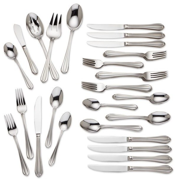 lenox flatware with 1810 STAINLESS FLATWARE GORHAM MELON BUD MELON BUD FROSTED