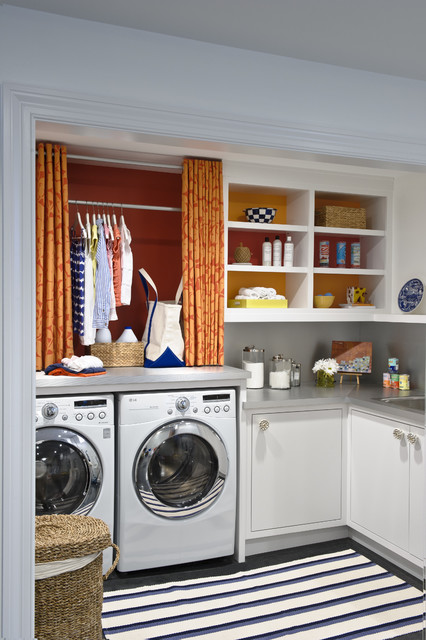 Lg Steam Washer And Dryer Laundry Room Transitional With Accent Art Asid  Basket Built In Clean