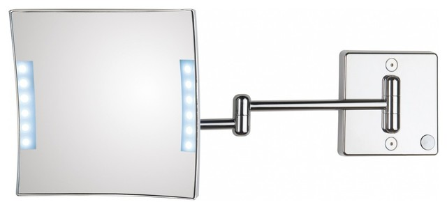Lighted Magnifying Makeup Mirror with Bathroom Mirrors Makeup Mirrors Wall Mirrors