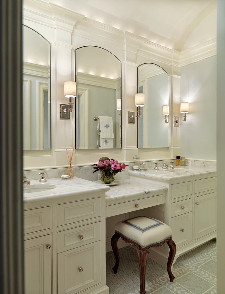 Lighted Makeup Mirror Bathroom Traditional with Arch Barrel Vault Bathroom Ceiling Curved Mirror