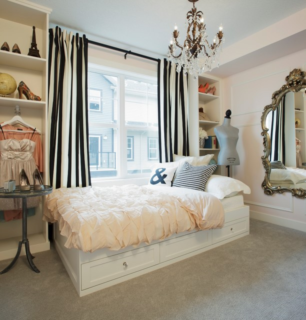 Lilly Pulitzer Shoes Bedroom Shabby Chic with Bedroom Black White Stripes Built in Shelves Carpeting Chandelier Dress