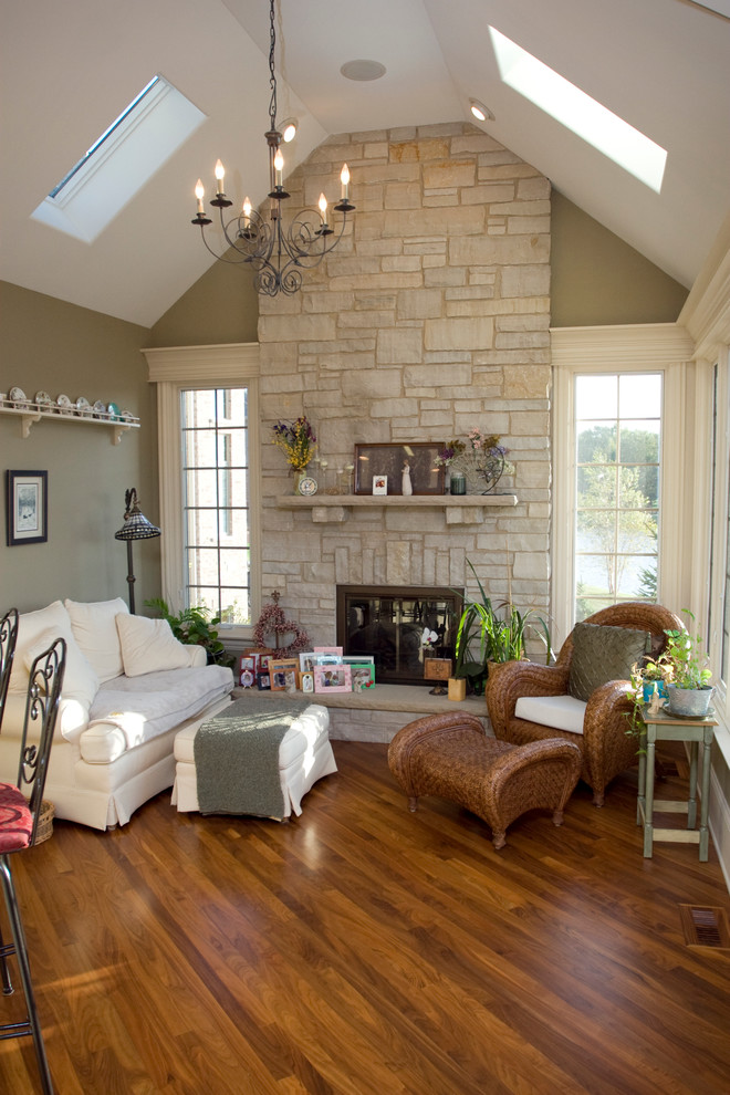 Limestone Fireplace Living Room Traditional with Chandelier Chicago Home Builder Custom Homes Fireplace