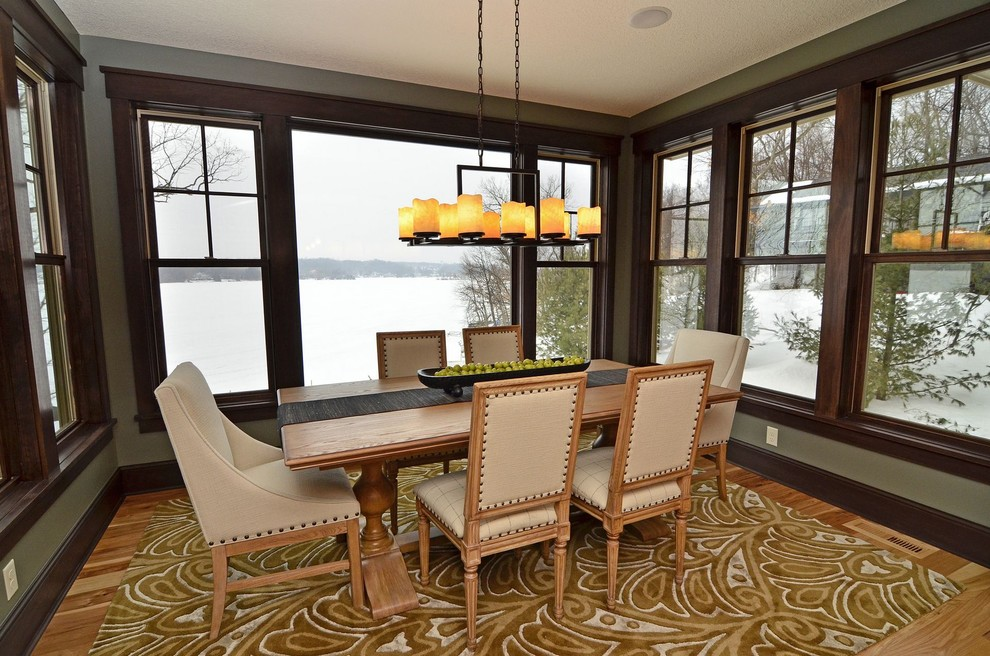 Linear Chandelier Dining Room Contemporary with Area Rug Baseboards Centerpiece Dining Table Double