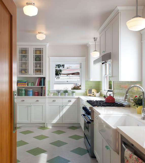 Linoleum Flooring Lowes Kitchen Traditional With Bright Charging Station Check Floor Farmhouse Sink Green And