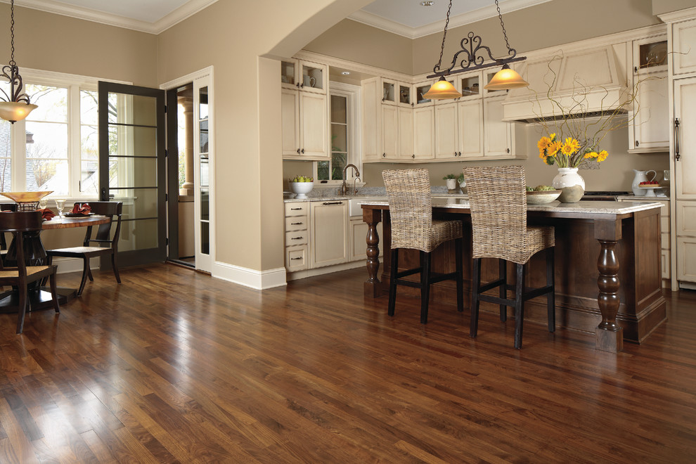 Liquor Cabinets Kitchen Traditional with Flooring Hardwood Kitchen