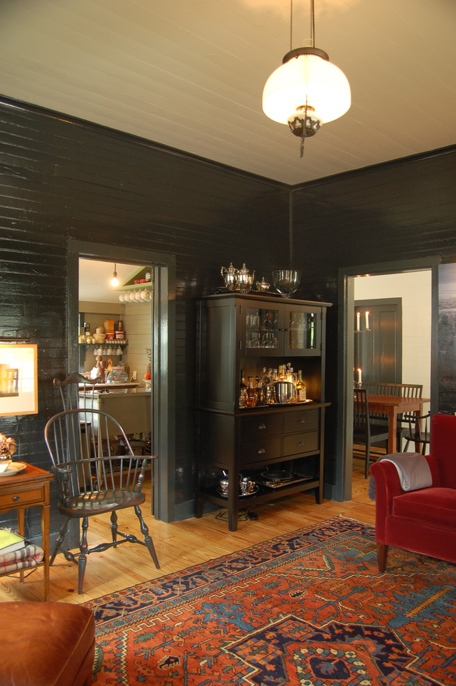 Liquor Cabinets Living Room Farmhouse with Area Rug Bar Table Dark Walls Dining