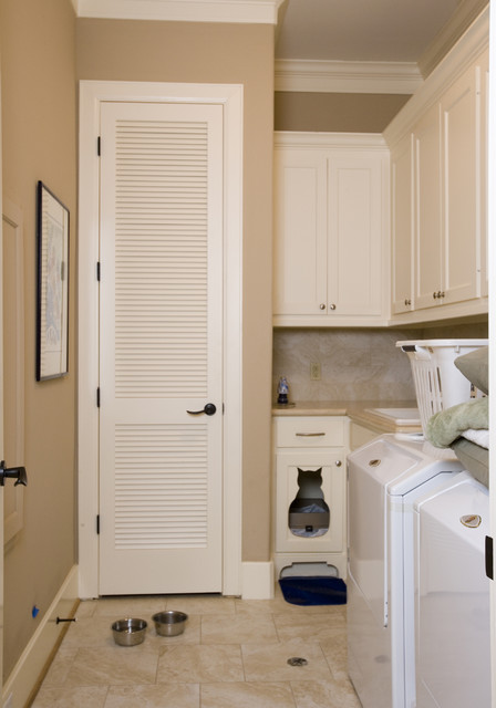 litter-box-enclosure-Laundry-Room-Eclectic-with-cat-bed