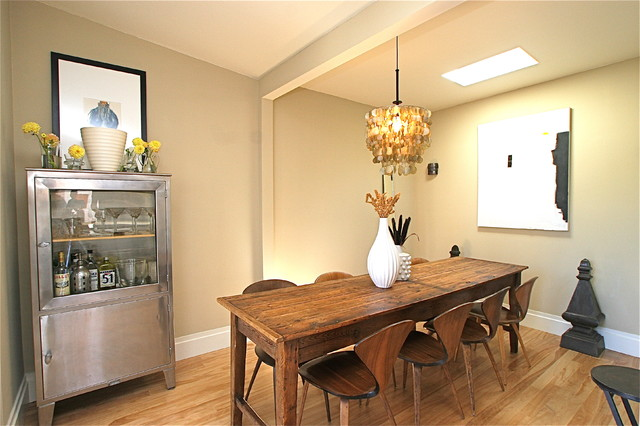 Locking Liquor Cabinet Dining Room Contemporary with Antiques Bar Capiz Shell Chandelier Cherner Chair Eclectic Farm