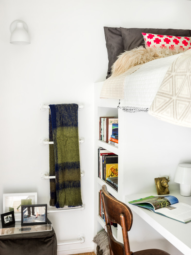 loft beds for adults Bedroom Eclectic with apartment Art bucktown compact condo condominium contemporary