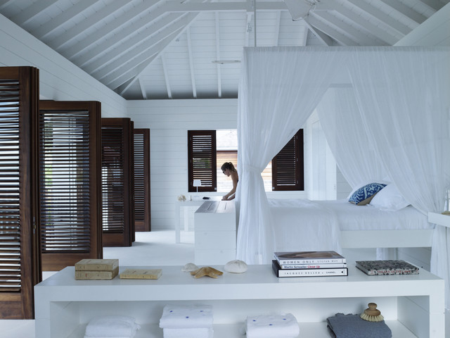 louvre doors Bedroom Tropical with bright and airy dark wood shutters louvered doors louvers