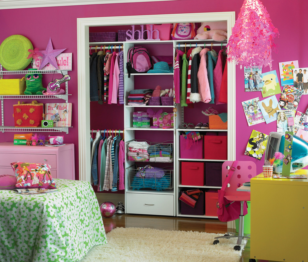 lowes-closet-systems-Kids-Eclectic-with-Bedroom-closet ...