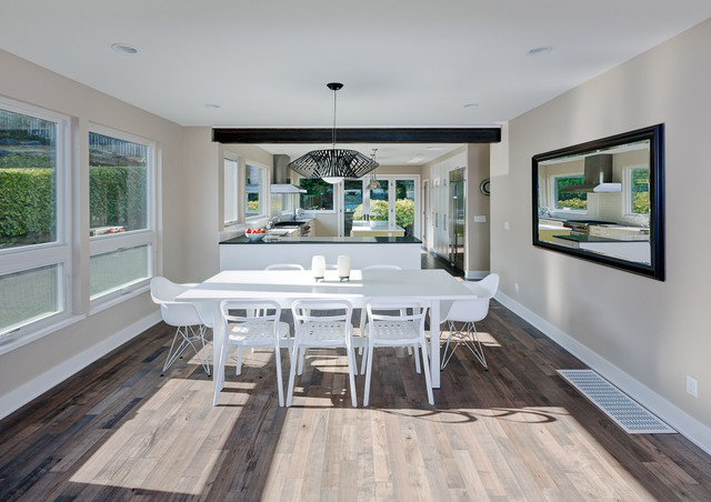 lowes hardwood flooring Dining Room Contemporary with ceiling lighting lantern minimal mixed dining furniture modern light