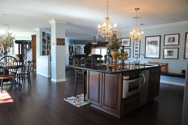 Lowes Hardwood Flooring Kitchen Traditional with Barstools Bench Seating Bigger Space Chandelier Custom Pantry French