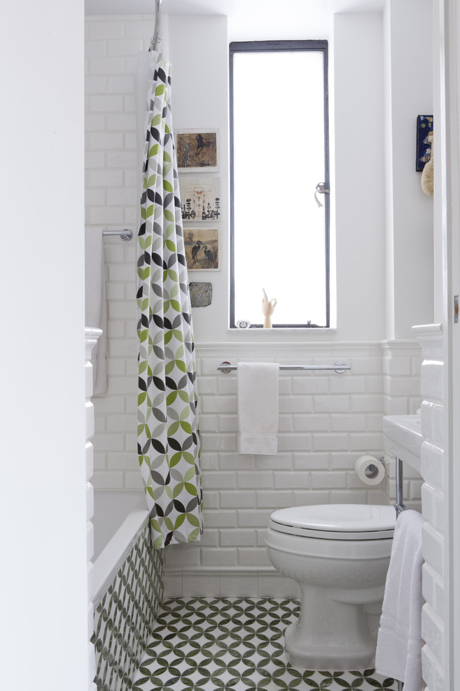 lowes-subway-tile-Bathroom-Contemporary-with-aqua-tiles-clear-glass ...