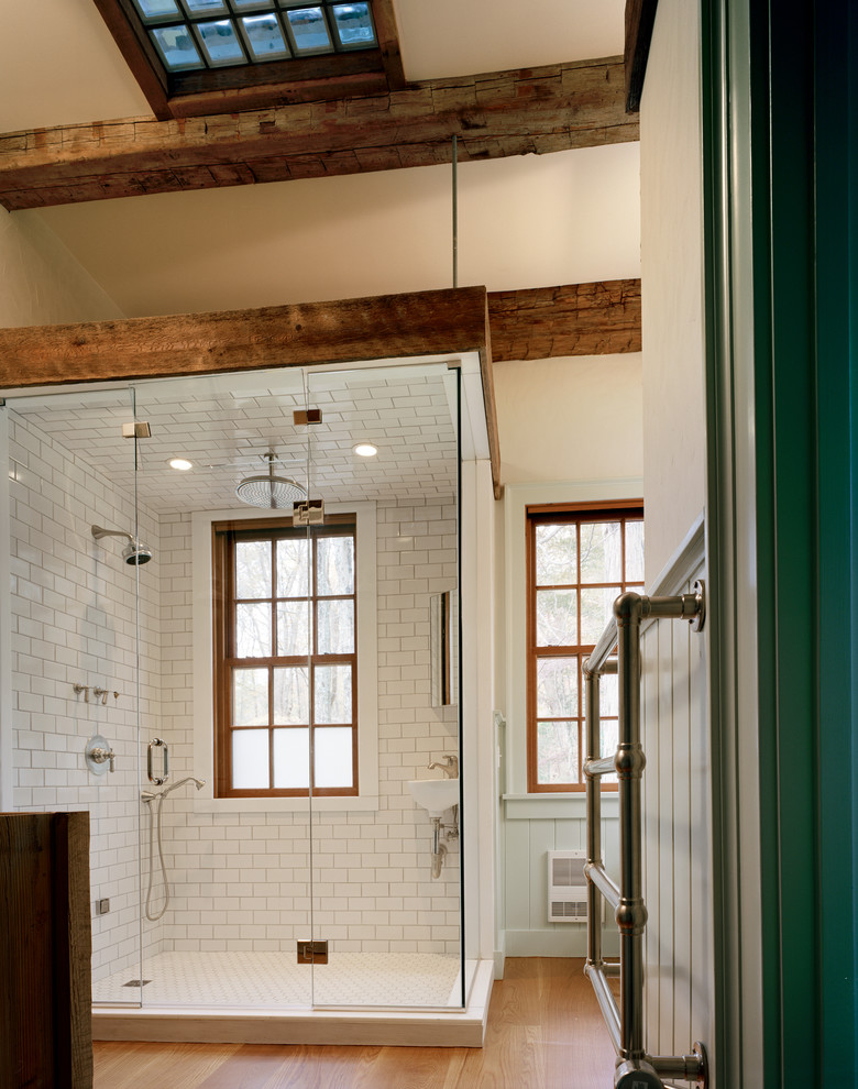 Lowes Subway Tile Bathroom Rustic with Ceiling Mounted Shower Head Frameless Shower Door1