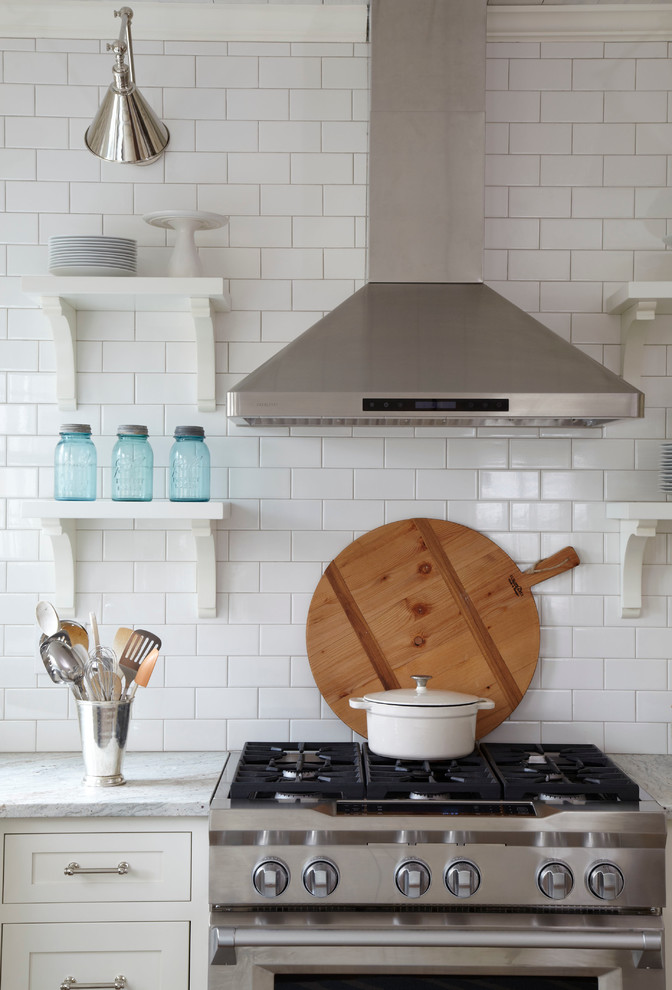 lowes subway tile Kitchen Farmhouse with accordion arm sconce blue country modern kitchen