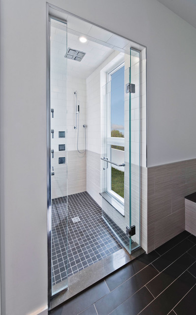 Lowes Tile Saw Bathroom Modern with Black Cubist Glass Shower Door Gray Large Window In