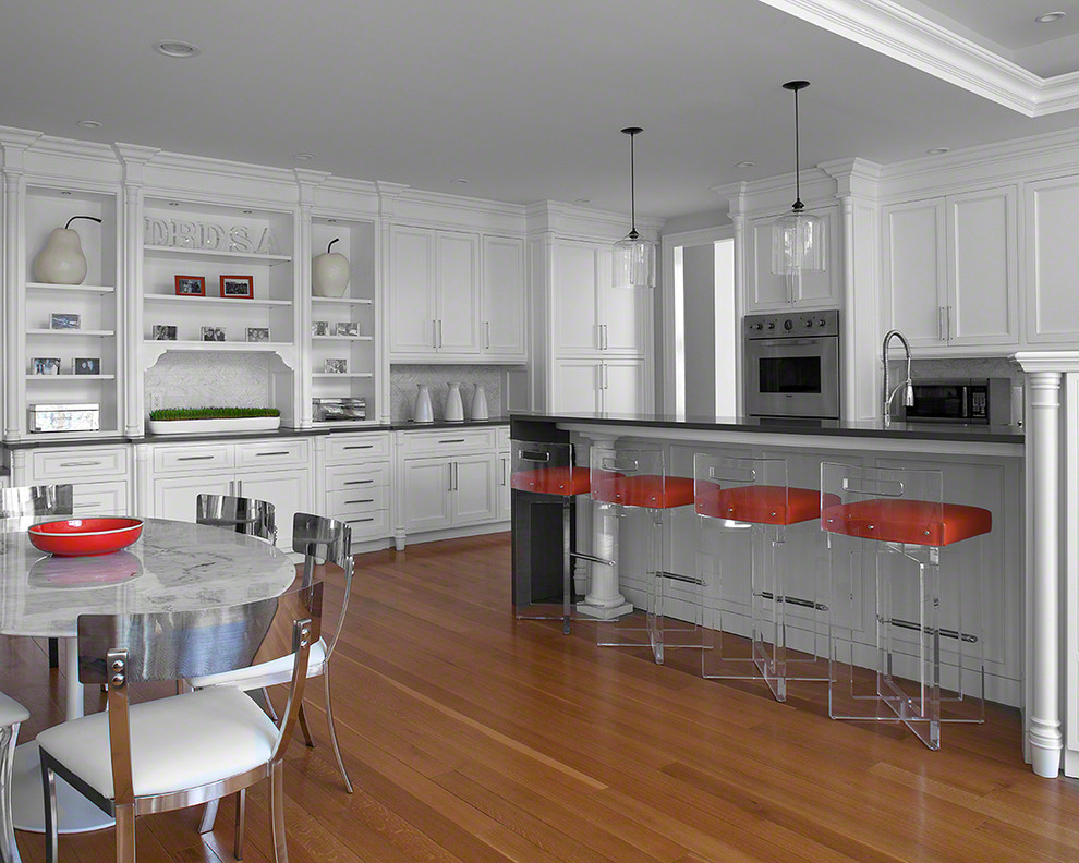 lucite bar stools Kitchen Transitional with acrylic bar stool crown molding glass pendant