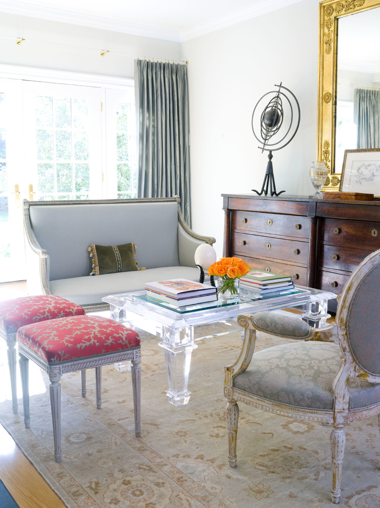 Lucite Coffee Table Living Room Traditional with Antique Furniture Distressed Furniture Gilt Framed Mirror