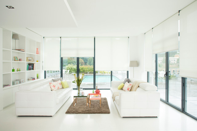 Lutron Shades Living Room Modernwith Categoryliving Roomstylemodern