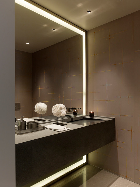 Magnifying Mirror with Light Bathroom Contemporary with Built in Sink Floating Cabinet Gray Large Lighted Mirror Modern