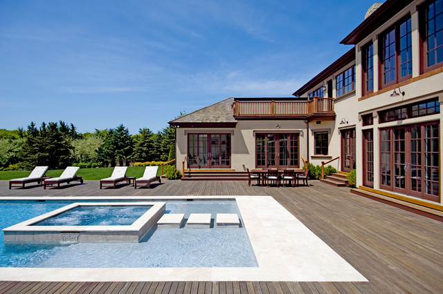 Mahogany Decking Pool Traditional with Hot Tub Mahogany Deck Outdoor Chaise Lounge Outdoor Dining