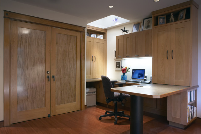 Mainstays L Shaped Desk with Hutch Home Office Contemporary with Bamboo Inlay Doors Built in Storage Ceiling Lighting Closet