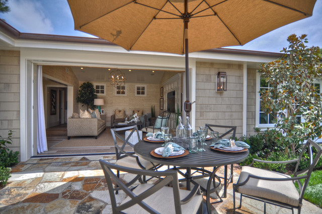 Mainstays Patio Furniture Patio Beach with Lanterns Neutral Colors Outdoor Dining Outdoor Lighting Patio Doors