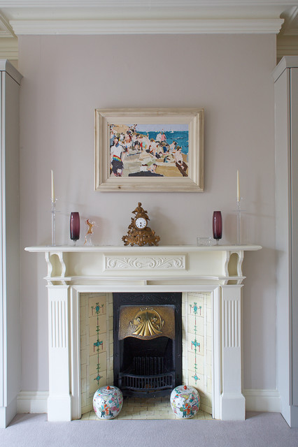 Mantel Clock Bedroom Traditional with Artwork Bed Room Candles Chimney Clock Fire Grate Fluted