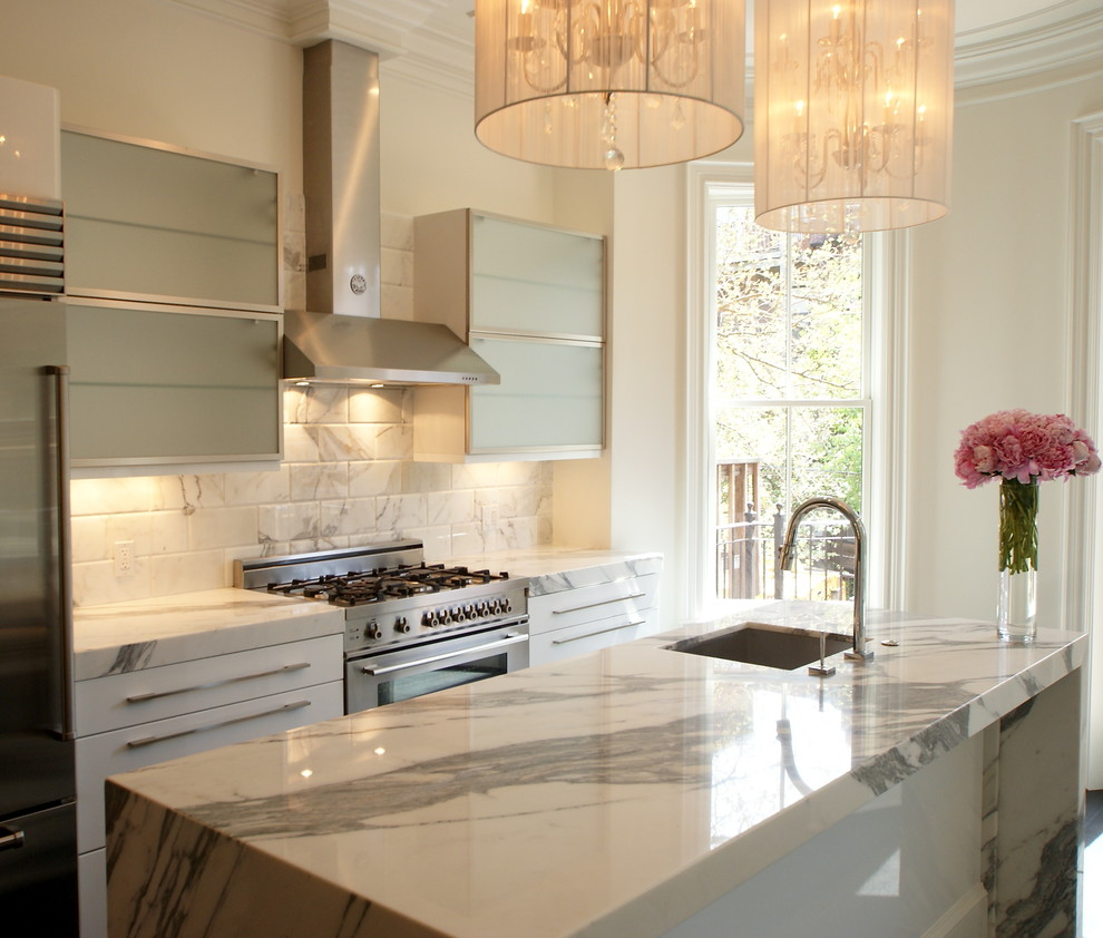 marble-countertops-cost-Kitchen-Transitional-with-floral-arrangement ...