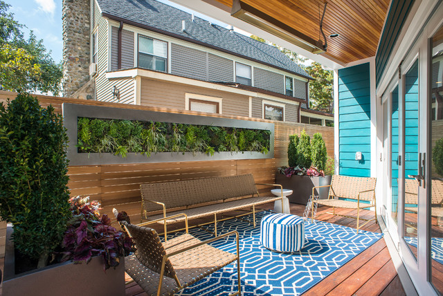 Marge Carson Furniture Deck Contemporary with Area Rug Backyard Deck Contemporary Planters Green Wall Living