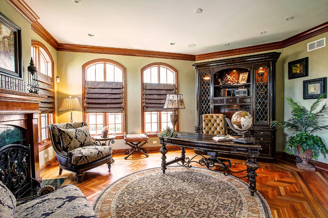 Marge Carson Furniture Home Office Traditional with Accessory Call Artwork Fine Art Lighting Fire Place Screen