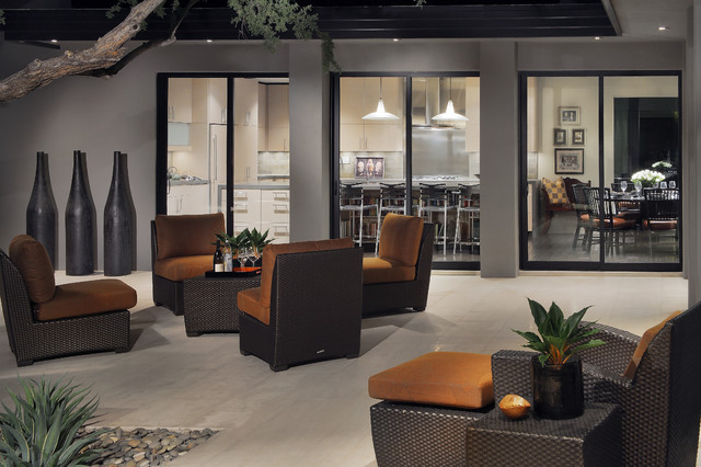 Marge Carson Furniture Patio Contemporary with Agave Architect Architecture Courtyard Doors Exterior Floor Glass Grey