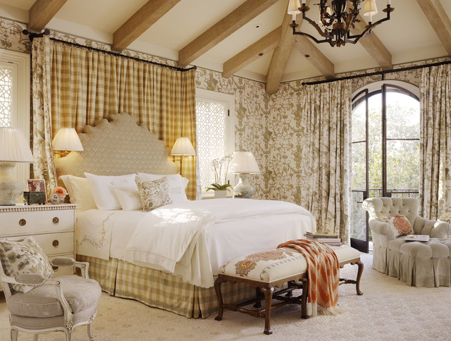 Mark Rothko Prints Bedroom Traditional with Antique Balcony Banquette Bedside Table Buffalo Plaid California Chest