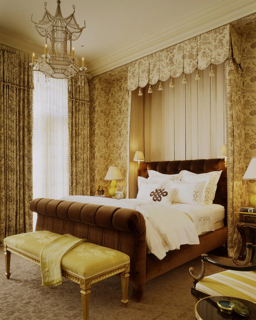 Mark Rothko Prints Bedroom Traditional with Antique Bed Canopy Brown Bed Canopy Carpet Pattern Classic