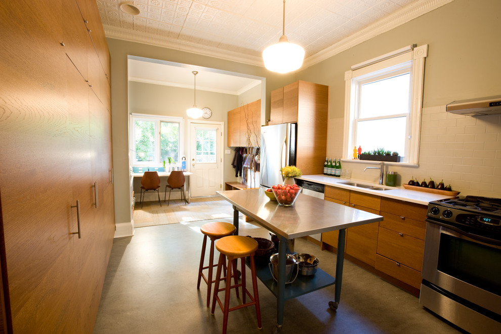 Marmoleum Kitchen Contemporary with Barstools Caeserstone Countertop Flor Carpet Tiles Ikea