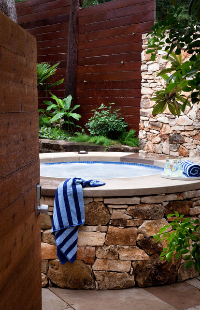 Marquis Hot Tub Landscape Modern with Blue Mosaic Hot Tub Concrete Hot Tub Frame Concrete