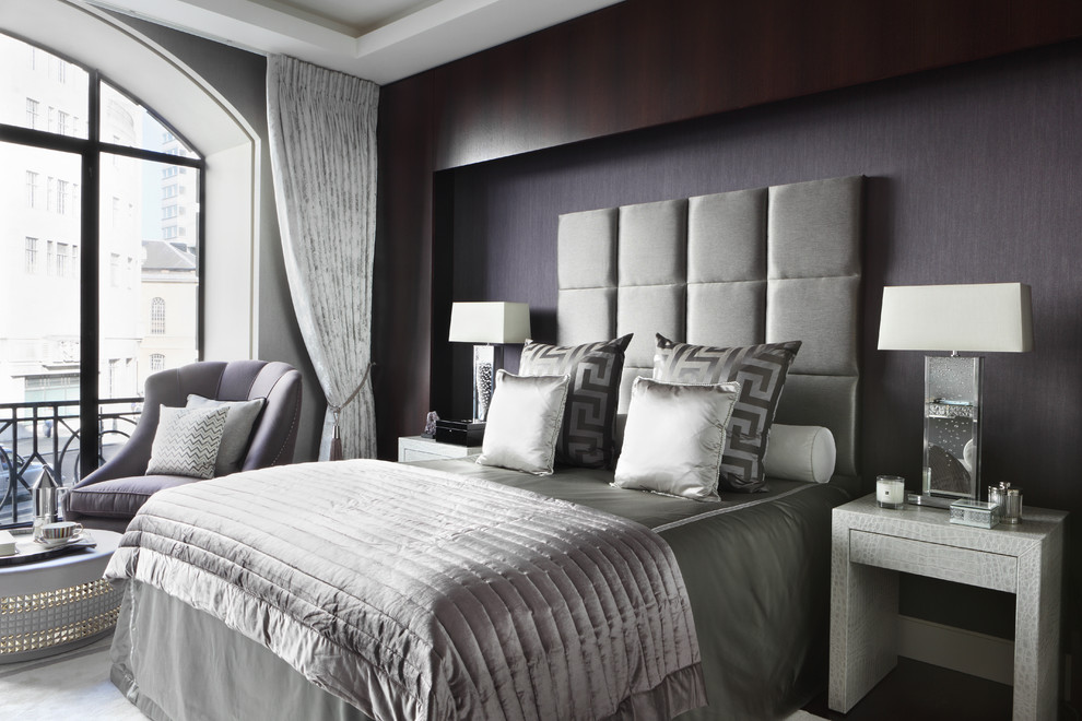 Masculine Bedding Bedroom Contemporary with Bedroom Sitting Area Black and Grey Bedroom