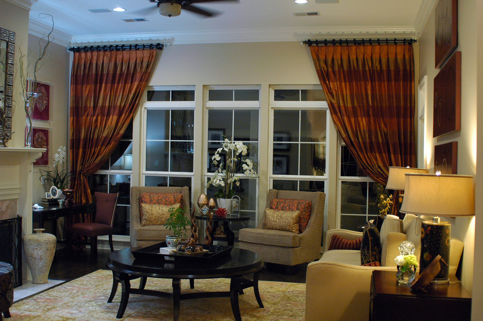 Massoud Furniture Living Room Traditional with Black Coffee Table Curtains Large Coffee Table