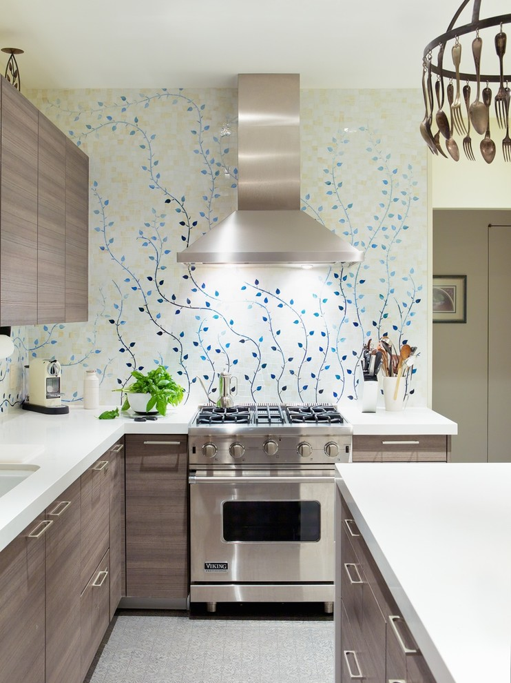 Melamine cabinets kitchen contemporary with corian - Melamine kitchen cabinets ...