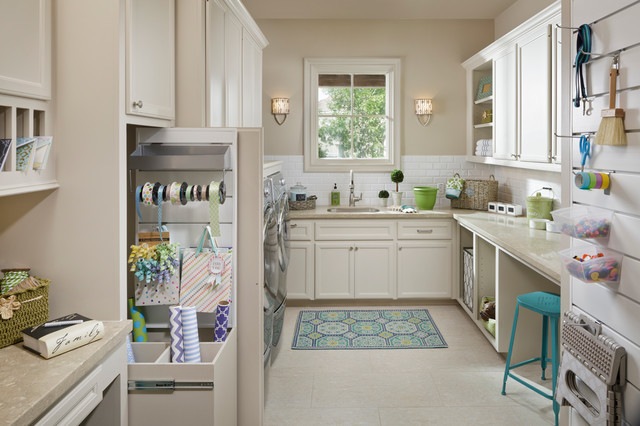 Mesh Laundry Bag Laundry Room Traditional with Classic Design Gift Wrapping Studio Interior Designer Interior Wall