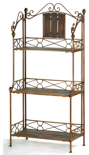 Metal Bakers Rack with Decoration Storage