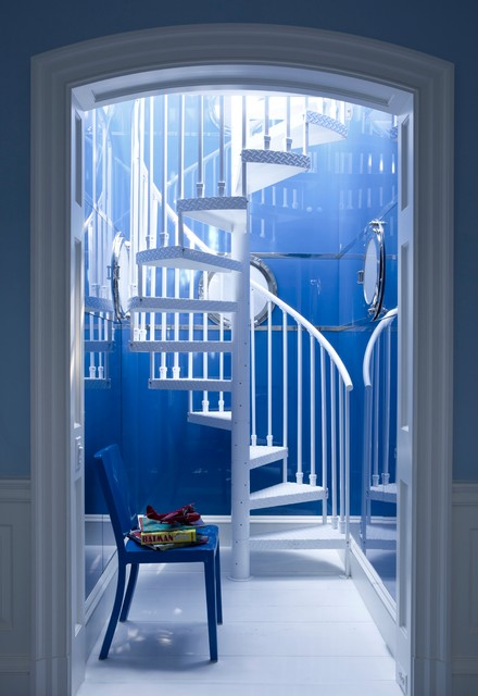 Metal Spiral Staircase Staircase Contemporary with Alcove Archway Art Deco Chair Deco Design High Gloss