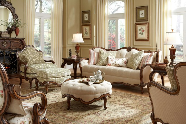michael amini Living Room Traditional with classic sofa classic sofa set living room set traditional