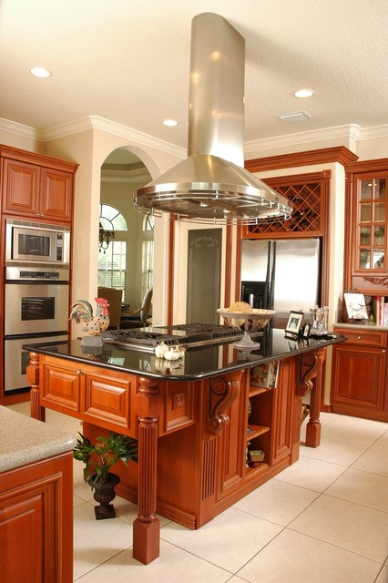 Kitchen Island Exhaust Hoods ~ Microwave vent hood kitchen traditional with arch